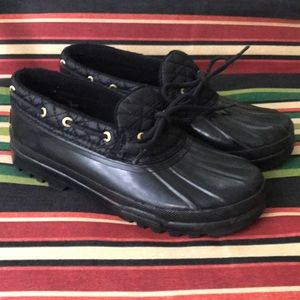 Sperry Top Slider Black RainShoes
